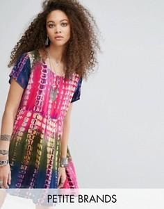 Платье-футболка в стиле oversize с принтом тай-дай Glamorous Petite - Мульти