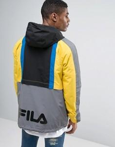 Куртка с капюшоном и логотипом сзади Fila - Черный