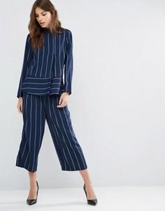 Полосатые брюки Y.A.S Heim - Темно-синий