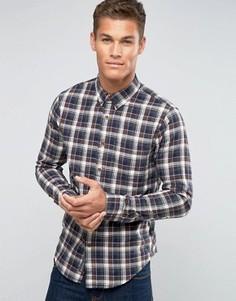 Рубашка в шотландскую клетку с 2 карманами Abercrombie & Fitch - Красный