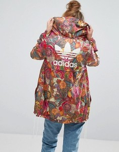 Фестивальная куртка с ярким цветочным принтом adidas Farm - Мульти