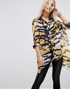 Рубашка с тигриным принтом Religion - Мульти