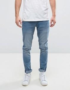 Выбеленные узкие джинсы Solid - Синий