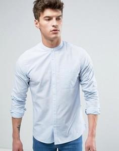 Рубашка классического кроя в полоску с воротником на пуговице Solid - Белый
