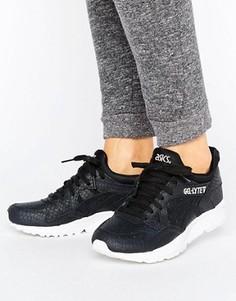 Черные фактурные кроссовки из кожи Asics Gel-Lyte V - Черный