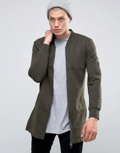Длинная трикотажная куртка Brave Soul - Зеленый