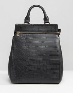 Фактурный рюкзак с крокодиловым узором Liquorish - Черный