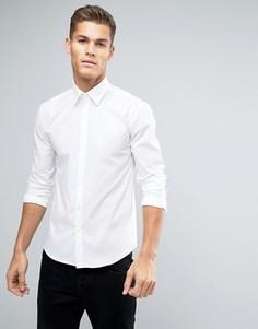 Эластичная рубашка узкого кроя Lindbergh - Белый