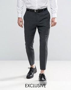 Твидовые брюки скинни Heart & Dagger - Серый