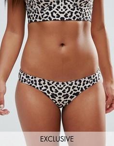 Wolf & Whistle Animal Print Cheeky Bikini Bottom - Мульти