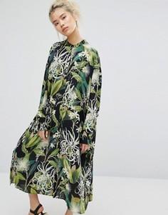 Рубашка-туника с цветочным принтом Weekday - Мульти