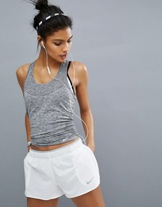 Трикотажная майка из быстросохнущей ткани Nike Running - Черный