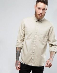 Nudie Jeans Co Calle Long Sleeve Pocket Shirt - Бежевый