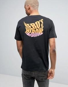 Heros Heroine T-Shirt In Black With Logo Back Print - Черный