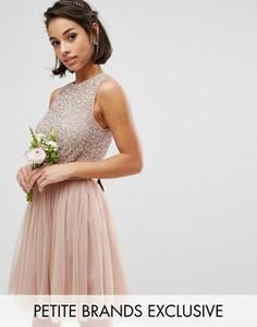 Платье мини без рукавов с пайетками Maya Petite - Розовый