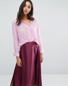 Рубашка с длинными рукавами Samsoe & Samsoe Maj - Розовый