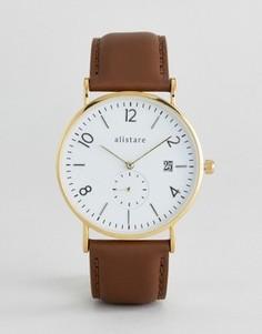 Часы с кожаным ремешком Breda Classic - Черный