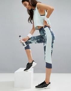 Тренировочные капри с принтом adidas Techfit - Мульти