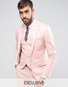 Супероблегающая куртка из хлопкового сатина Only & Sons - Розовый