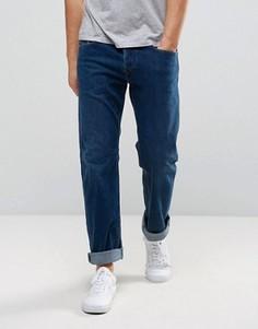 Ярко-синие прямые джинсы Diesel Waykee 084EH - Синий