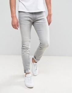Выбеленные джинсы скинни Lee Luke - Серый