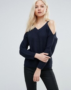 Джемпер с вырезами на плечах Vero Moda - Темно-синий