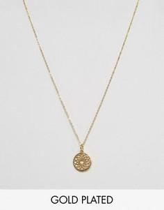 Ottoman Hands Crown Chakra Pendant Necklace - Золотой