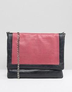 Серая сумка в стиле колор блок Urbancode - Темно-синий