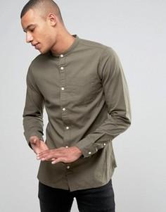 Узкая оксфордская рубашка с воротом на пуговице Jack & Jones Premium - Зеленый