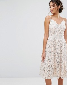 Кружевное приталенное платье Little Mistress - Белый