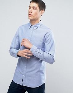 Узкая оксфордская рубашка в полоску Jack & Jones Premium - Синий