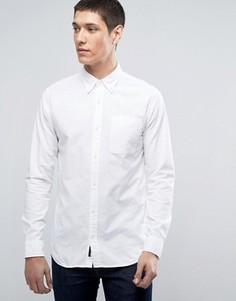 Узкая оксфордская рубашка премиум-класса Jack & Jones - Белый