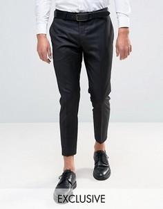 Укороченные суперузкие брюки Noak - Черный