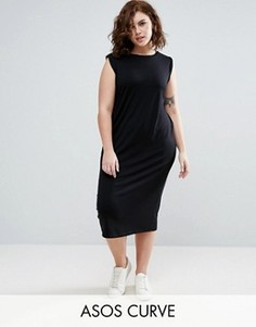 Платье-майка миди без рукавов ASOS CURVE - Черный