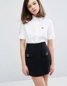 Оксфордская рубашка с короткими рукавами Fred Perry Authentic - Белый