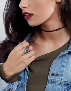 Ожерелье-чокер с металлическими бусинами ASOS - Черный