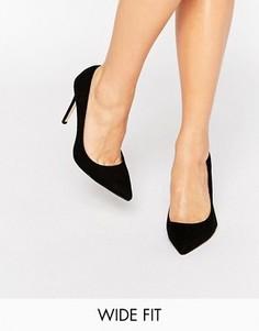 Черные туфли‑лодочки для широкой стопы Faith Chloe - Черный