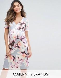 Платье с цветочным принтом Bluebelle Maternity - Синий