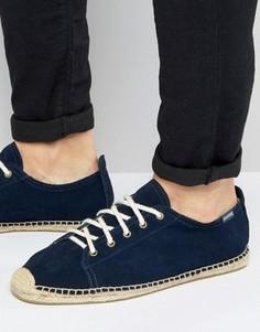 Эспадрильи на шнуровке Soludos - Темно-синий