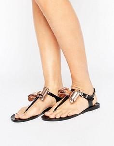 Черные сандалии с золотистыми бантами Ted Baker Ainda - Черный