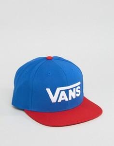 Синяя бейсболка Vans - Синий