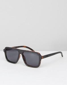 Солнцезащитные очки в черной черепаховой оправе Vans - Черный
