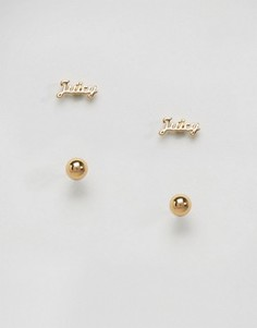 Juicy Couture Gold Stud Earring Set - Золотой