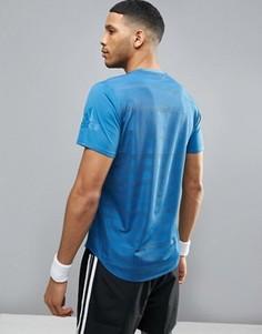 Синяя футболка adidas TKO BQ2196 - Синий