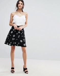 Юбка с одуванчиками Selected Femme - Черный
