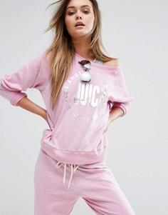 Свитшот Juicy By Juicy Couture Trk Juicy - Фиолетовый