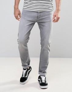 Серые суженные книзу джинсы Burton Menswear - Серый