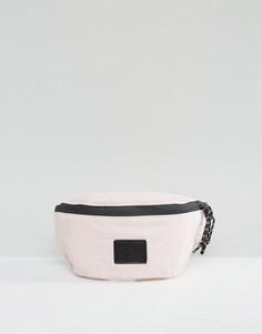 Розовая сумка-кошелек на пояс с нашивкой ASOS - Розовый