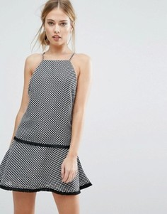 Finders Bailey Cross Back Dress With Fringe Detail - Черный
