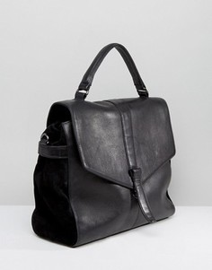 Urbancode Leather Fold Over Bag - Черный